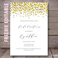 Free editable invitations exclusive baby shower ideas themes bs281 free editable gold baby shower invitations printable filmwisefo