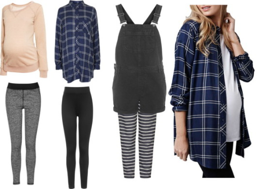 casual checkered materinity fashion clothings