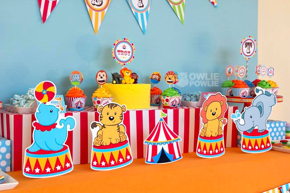 circus carnival baby shower - baby shower ideas - themes