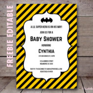 Free Batman Baby Shower Invitation