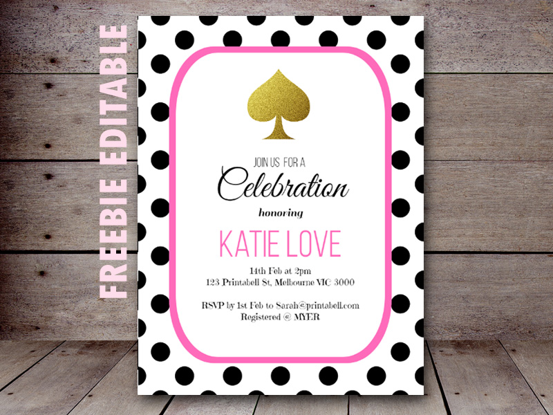 Free editable kate spade bridal shower birthday party invitation free editable kate spade baby shower birthday party stopboris Choice Image