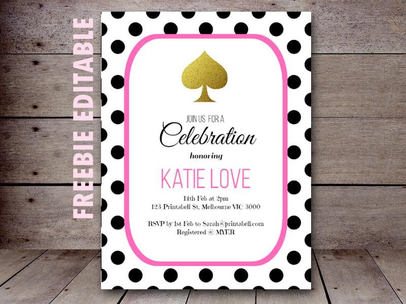 Free editable kate spade bridal shower birthday party invitation free editable kate spade baby shower birthday party stopboris Image collections