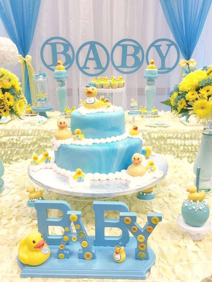 Rubber ducky baby shower baby shower ideas themes games for Baby shower party decoration ideas