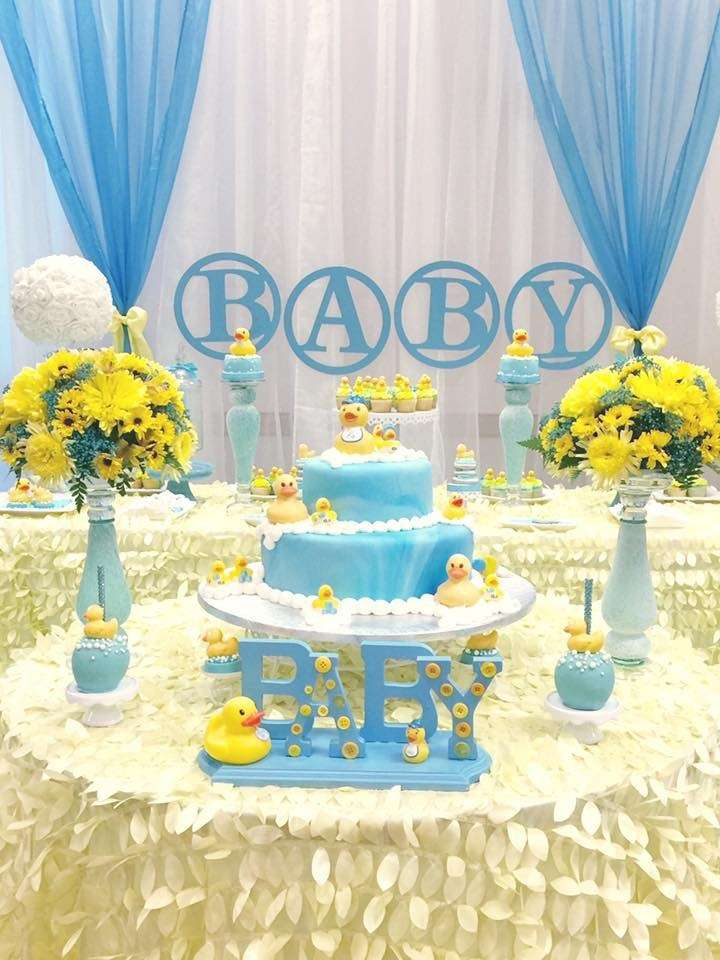 Rubber ducky baby shower baby shower ideas themes games for Baby shower dekoration