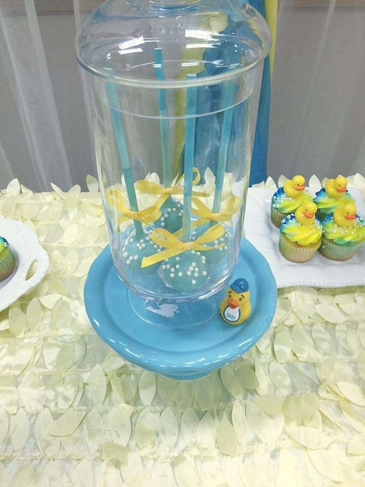 ... Rubber Ducky Baby Shower Its A Boy Cakepops ...