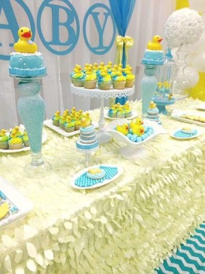 Rubber Ducky Baby Shower Table Clothes Amazing Baby