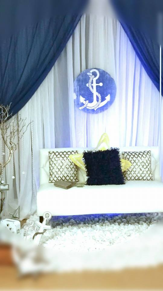blue and white nautical baby shower - baby shower ideas - themes