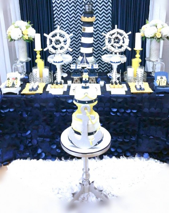 blue and white nautical baby shower baby shower ideas themes