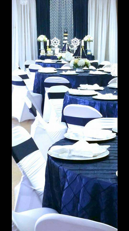 blue and white nautical baby shower - baby shower ideas