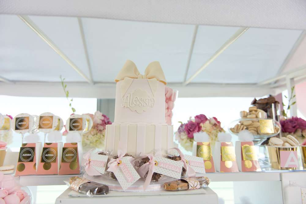 this elegant pastel french patisserie baby shower was beautifully