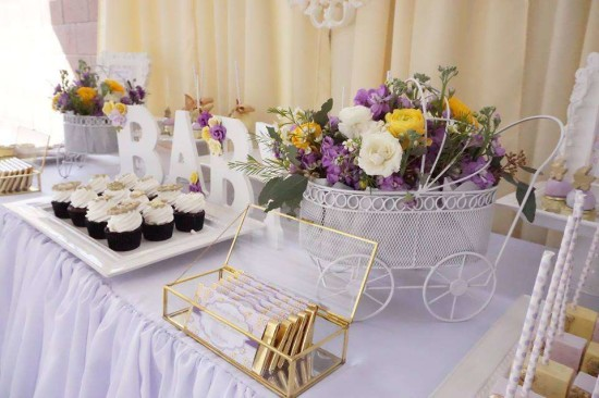 Elegant Yellow and Purple Baby Shower - Baby Shower Ideas ...