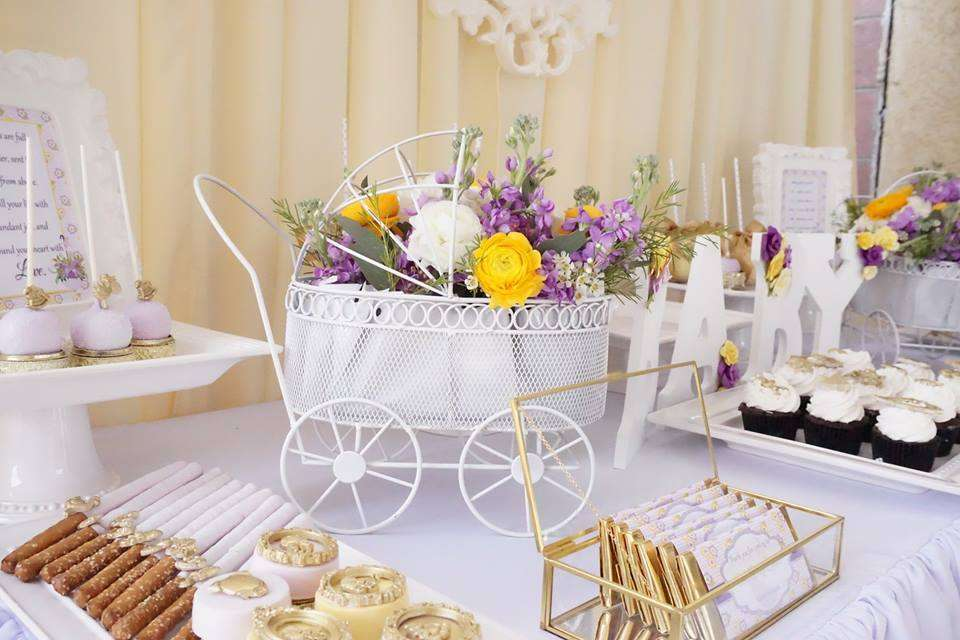 elegant yellow and purple baby shower baby shower ideas themes