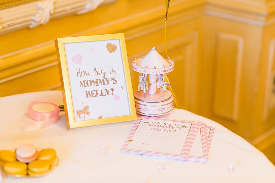 Pink and Gold Carousel Baby Shower - Baby Shower Ideas - Themes - Games