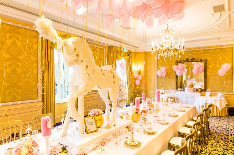 Pink And Gold Carousel Baby Shower Baby Shower Ideas