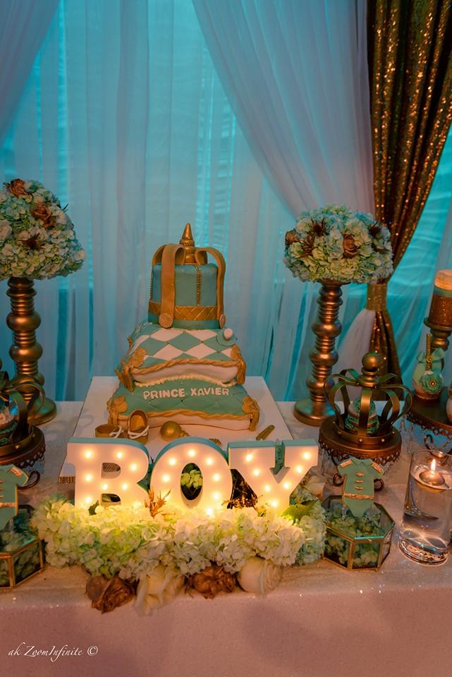 Golden glamorous prince baby shower baby shower ideas for Baby decoration games