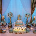 Golden Glamorous Prince Baby Shower