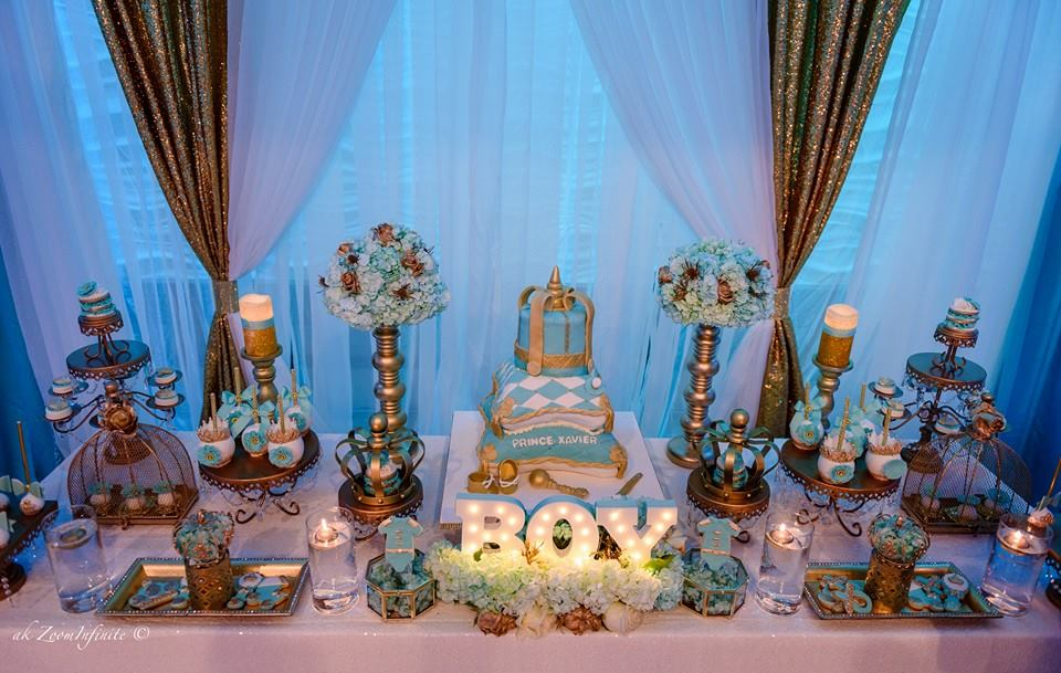 baby shower ideas golden glamorous prince baby shower