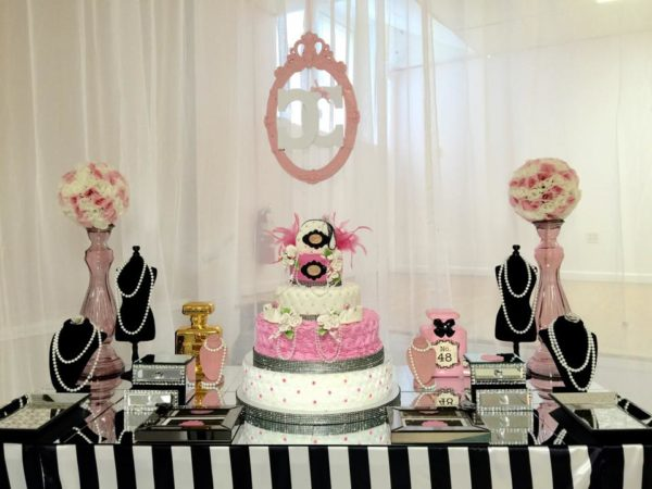 Modern chic chanel baby shower baby shower ideas for Baby shower modern decoration