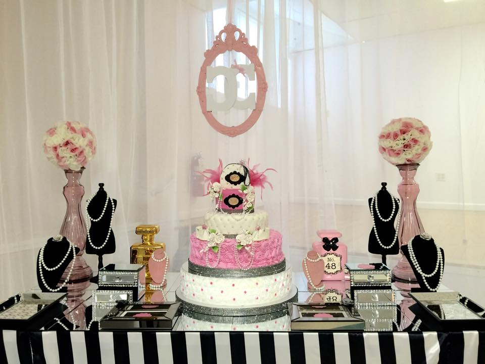 baby shower table decoration ideas modern modern chic chanel baby