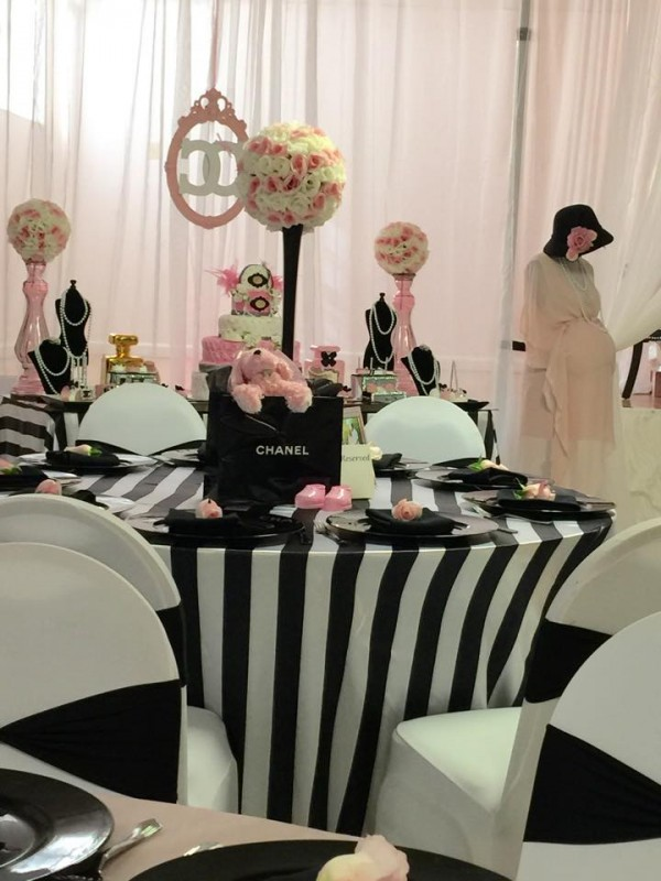 Modern Chic Chanel Baby Shower - Baby Shower Ideas ...