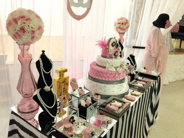 modern chic chanel baby shower