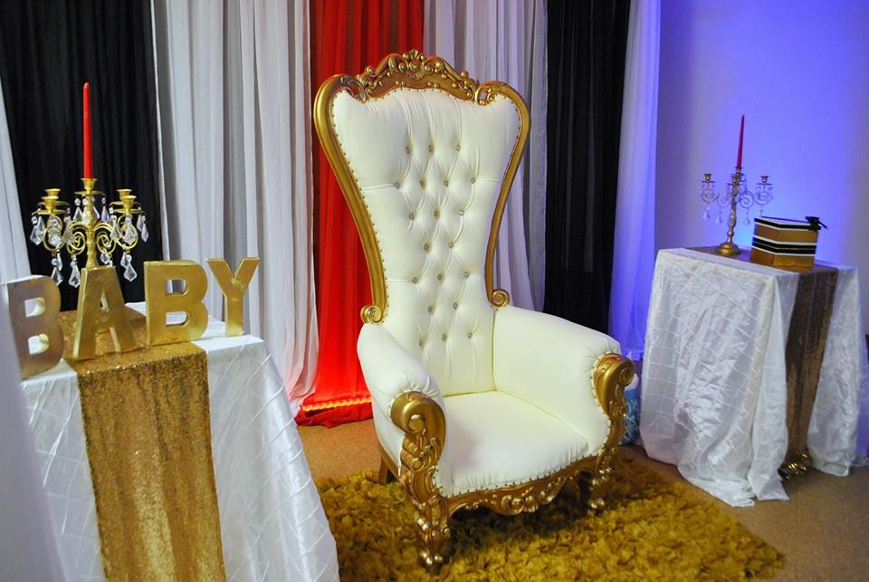 ... Chic Hollywood Red Carpet Baby Shower Throne ...