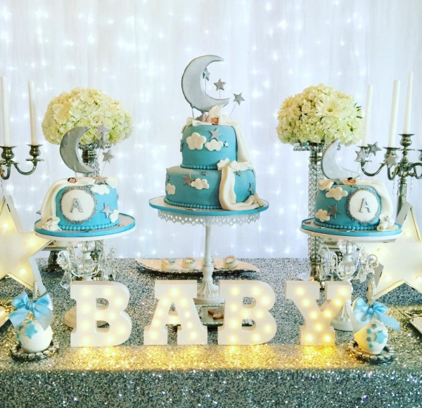 elegant twinkle twinkle little star baby shower ideas themes