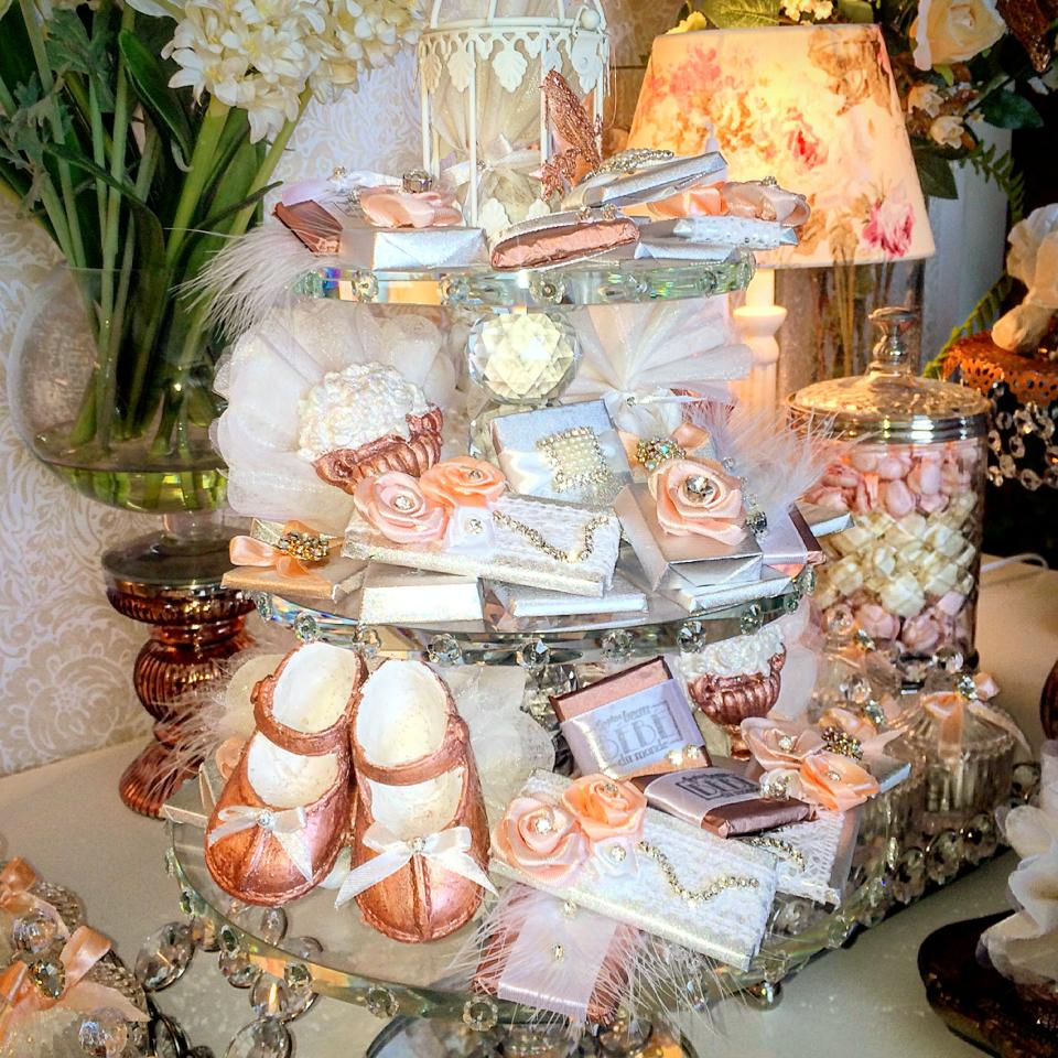 floral copper baby shower - baby shower ideas - themes