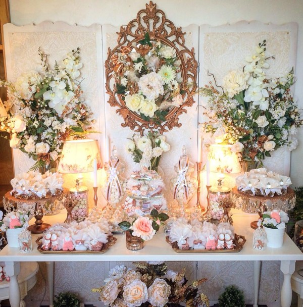Floral Copper Baby Shower Baby Shower Ideas Themes Games