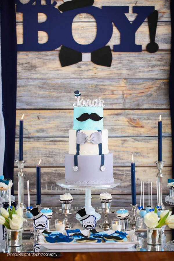 Mustaches and bows baby shower baby shower ideas themes games - Popular boy baby shower themes ...