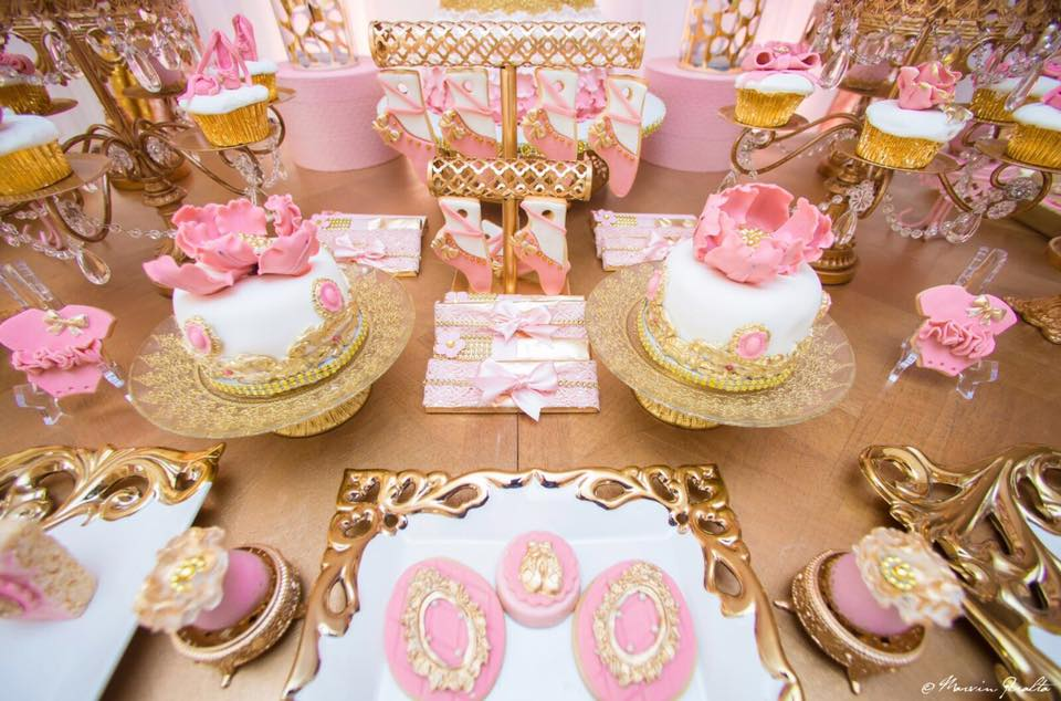 Sweet Pink And Blush Baby Shower Small Cakes