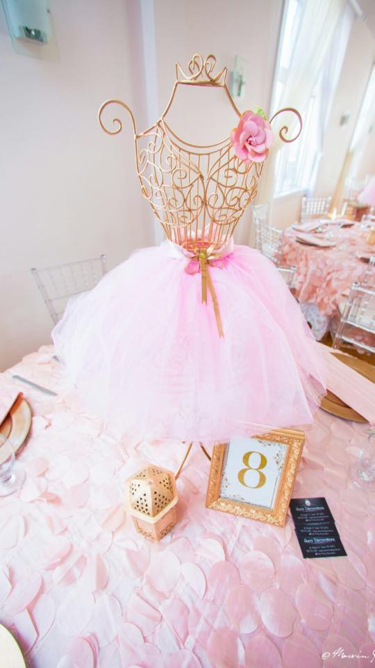Sweet pink blush baby shower ideas
