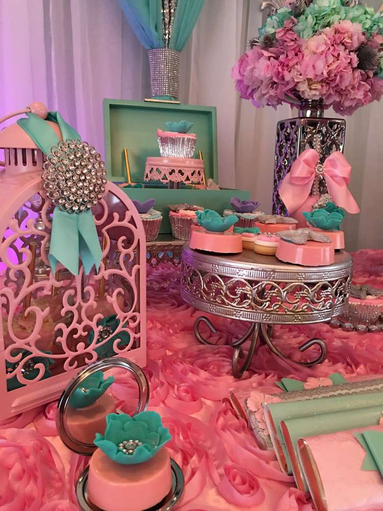 teal and pink modern chic baby shower baby shower ideas themes games. Black Bedroom Furniture Sets. Home Design Ideas