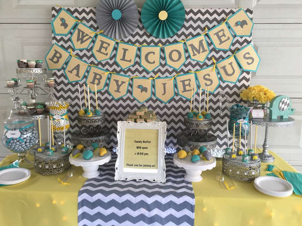 chevron elephant baby shower baby shower ideas themes games