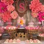 Elegant Pink Flower Baby Shower