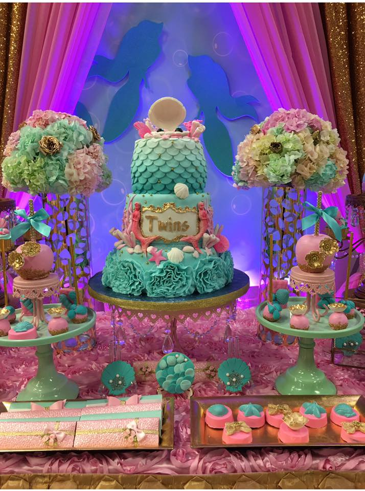 Mythical Mermaid Baby Shower - Baby Shower Ideas - Themes - Games