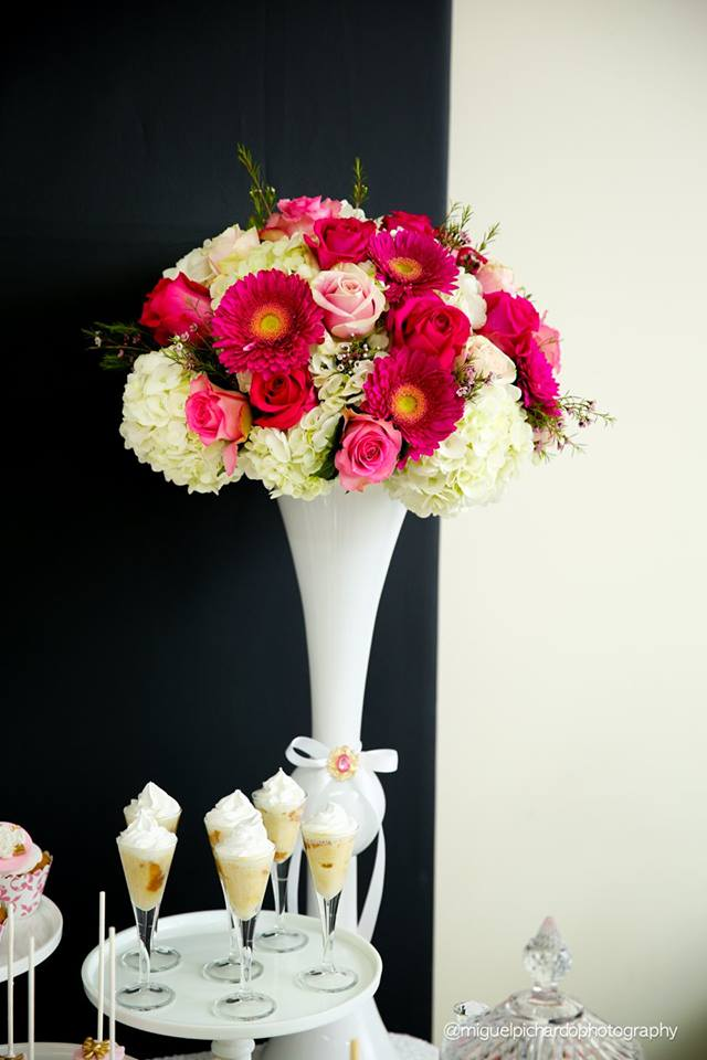 Pink And Black Floral Baby Shower Baby Shower Ideas