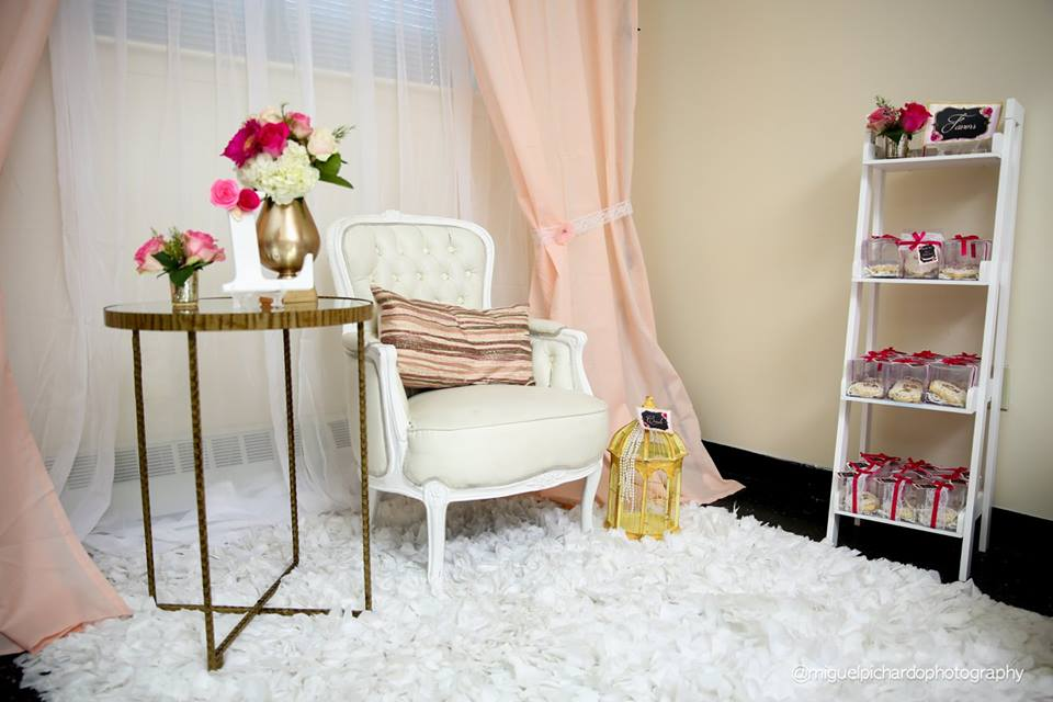 Pink And Black Floral Baby Shower - Baby Shower Ideas - Themes - Games