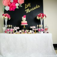 Pink-And-Black-Floral-Baby-Shower-Sweets-Table