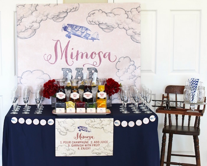 Classic Airplane Baby Shower - Baby Shower Ideas - Themes ...