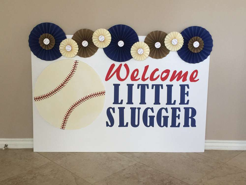 Classic Baseball Baby Shower Backdrop