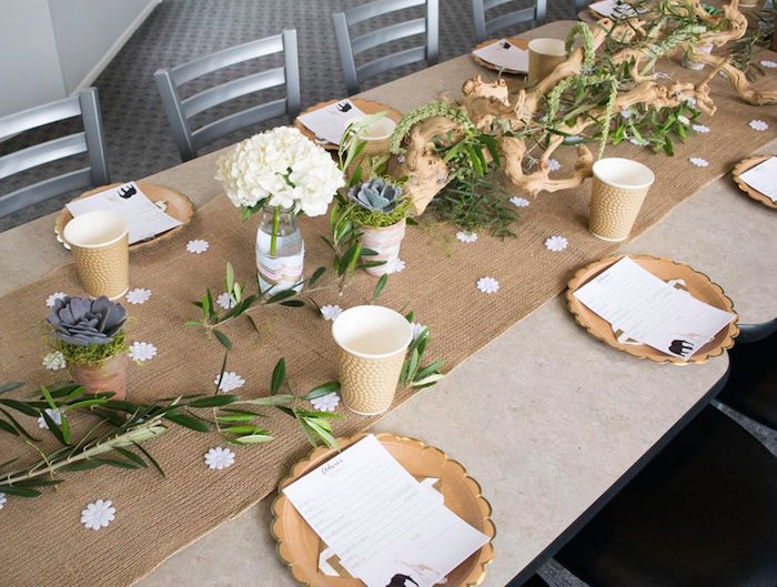 Contemporary Safari Baby Shower Seating