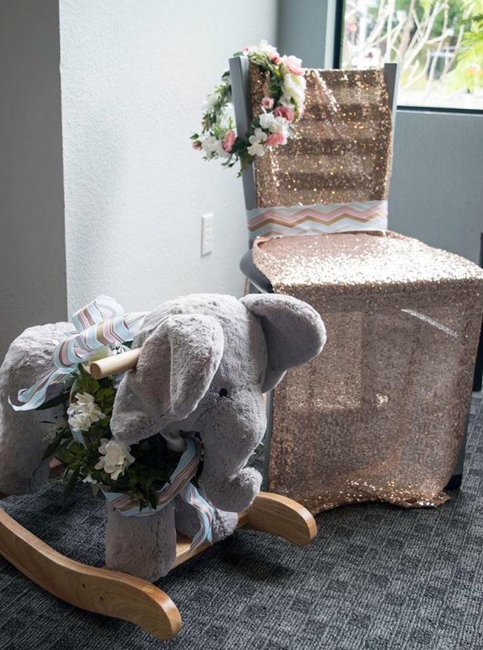 contemporary safari baby shower