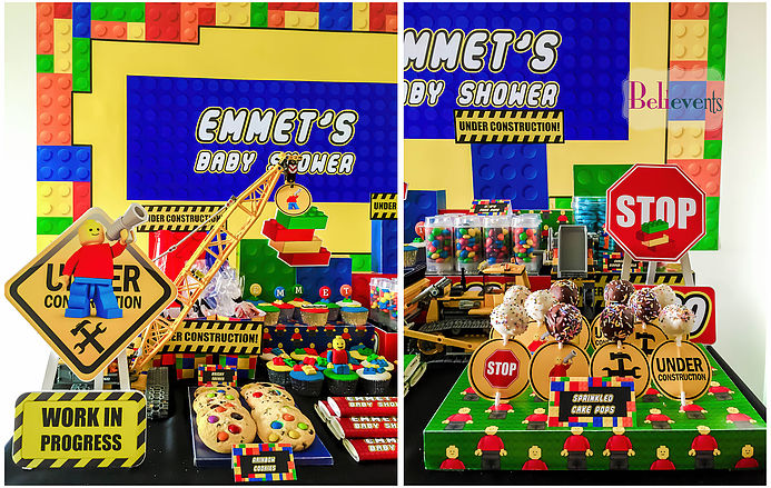 Lego Construction Baby Shower Baby Shower Ideas Themes Games