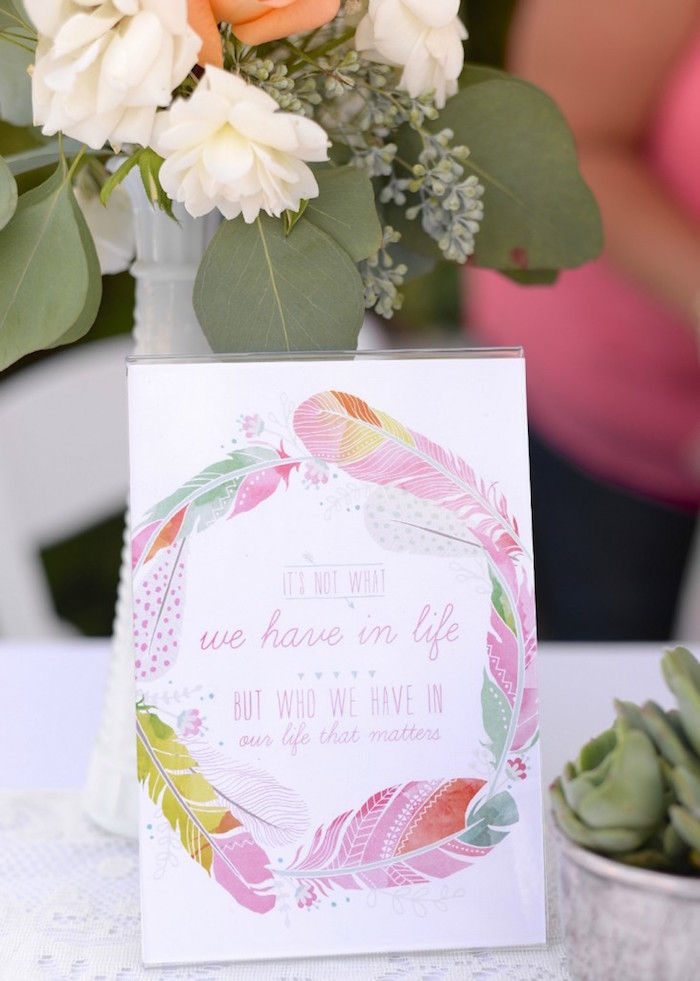 modern boho baby shower - baby shower ideas - themes