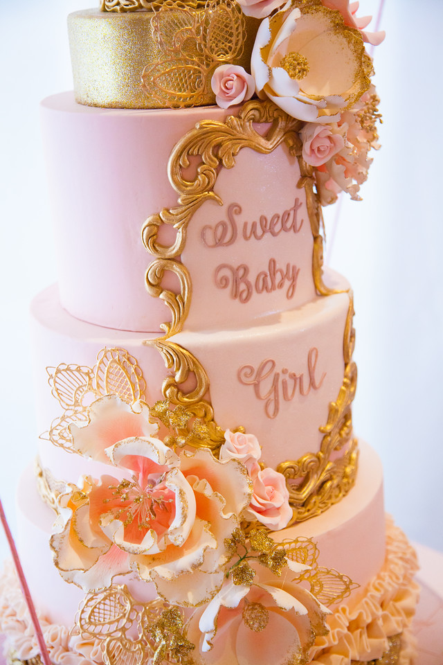 ... Pink And Gold Tutu Cute Baby Shower Cake  ...