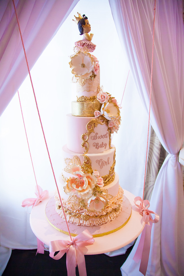 Pink And Gold Tutu Cute Baby Shower Cake Baby Shower Ideas