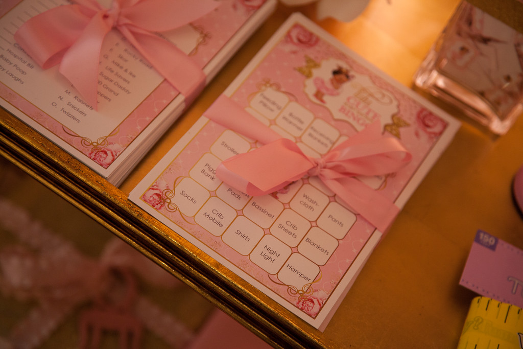 ... Pink And Gold Tutu Cute Baby Shower Games ...