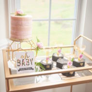 Whimsical-Geometric-Baby-Shower-Treat-Cart
