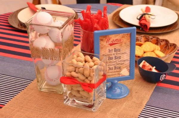 vintage style baseball baby shower - baby shower ideas - themes